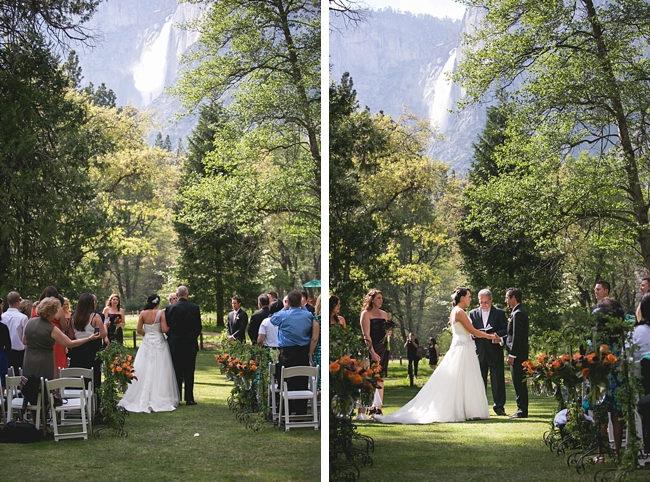 Yosemite wedding ceremony