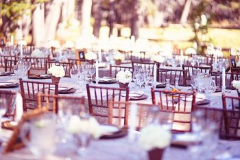 reception tables at The Hideout