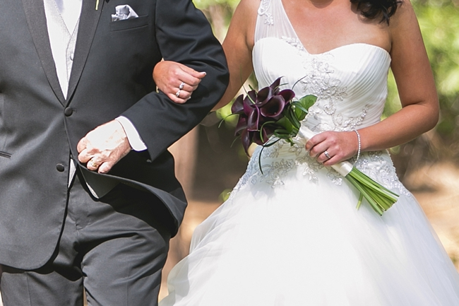 Detail of bride and dad