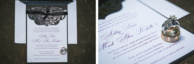 black damask wedding invitations and rings