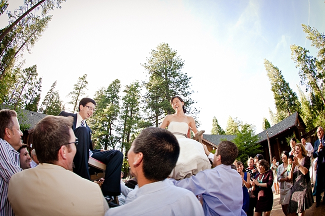 Hora dance at a yosemite wedding