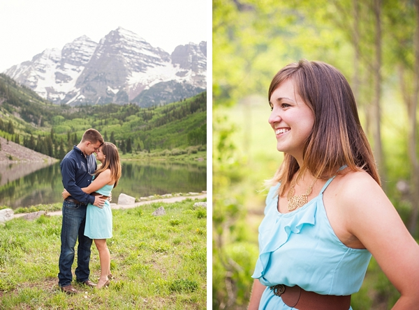 aspen engagement mountain views
