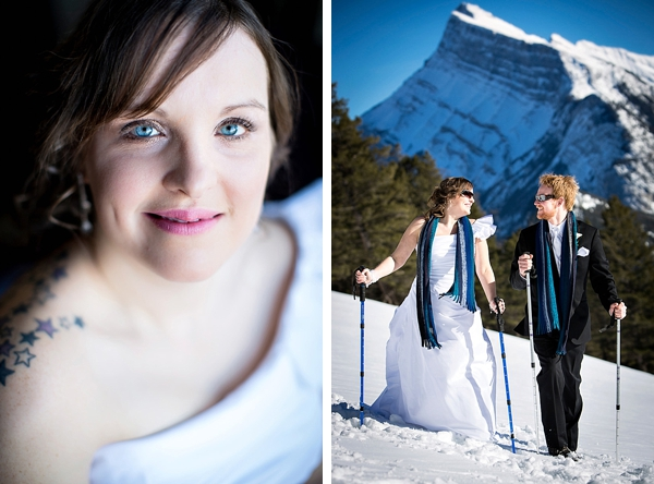 mountain bride and mountain wedding portrait