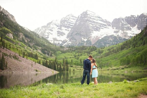 aspen engagement mountain lake