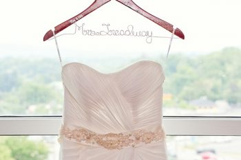 custom Hanger and wedding dress Western North Carolina