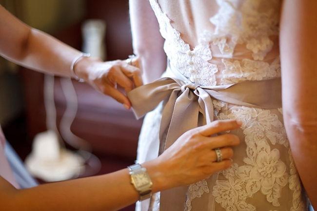beige sash on white wedding gown sequoia national park wedding