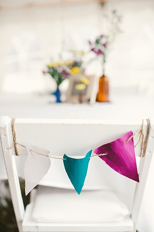 Bunting on Chair back