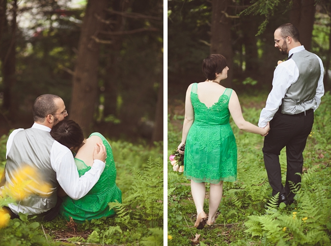 valle crucis elopement woodland couple