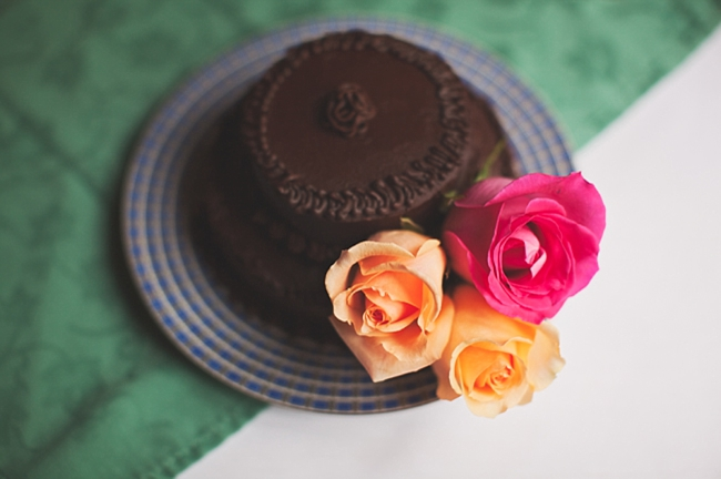 valle crucis elopement mini chocolate wedding cake