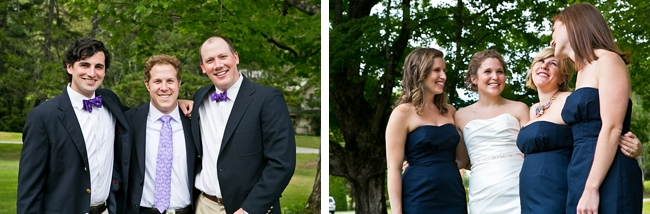 Navy and Lavender Wedding Party | New Hampshire Mountain Wedding