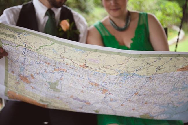 valle crucis elopement couple views map