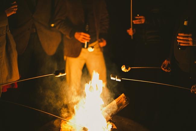 campfire and smores