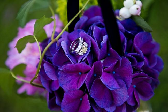 Purple Hydrangea | New Hampshire Mountain Wedding
