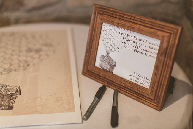 UP wedding guest book