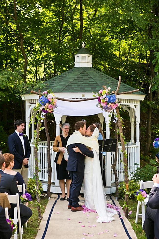 outdoor ceremony | New Hampshire Mountain Wedding