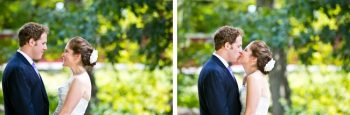 bride and groom kiss | New Hampshire Mountain Wedding