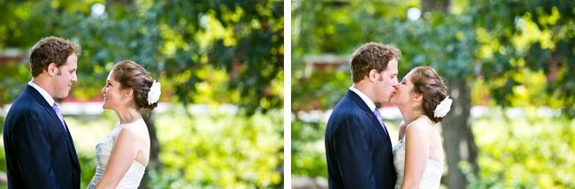 bride and groom kiss | New Hampshire Mountain Wedding