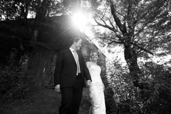 black and white portrait | New Hampshire Mountain Wedding