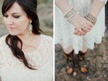 bride with boho jewelry Gaby J Photography