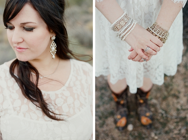 bride with boho jewelry Gaby J Photography