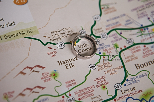 valle crucis elopement rings on a map