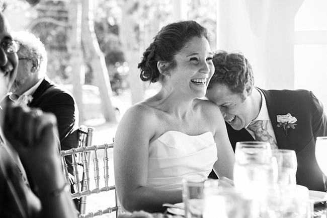 bride laughing | New Hampshire Mountain Wedding