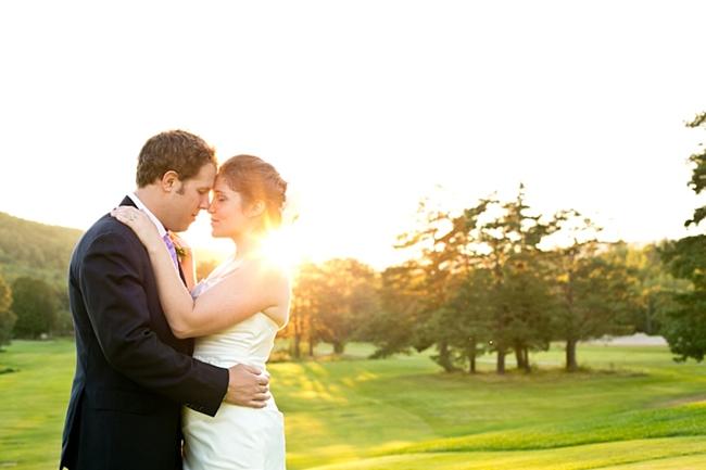 couple at sunset | New Hampshire Mountain Wedding