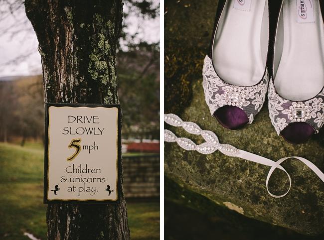 purple lace wedding shoes