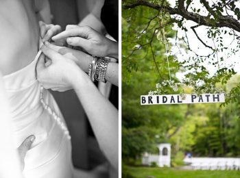 Bridal path sign | New Hampshire Mountain Wedding