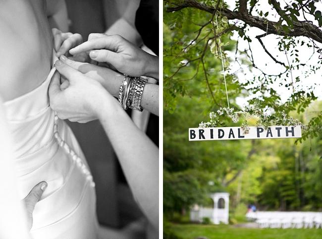 Bridal path sign | New Hampshire Mountain Wedding
