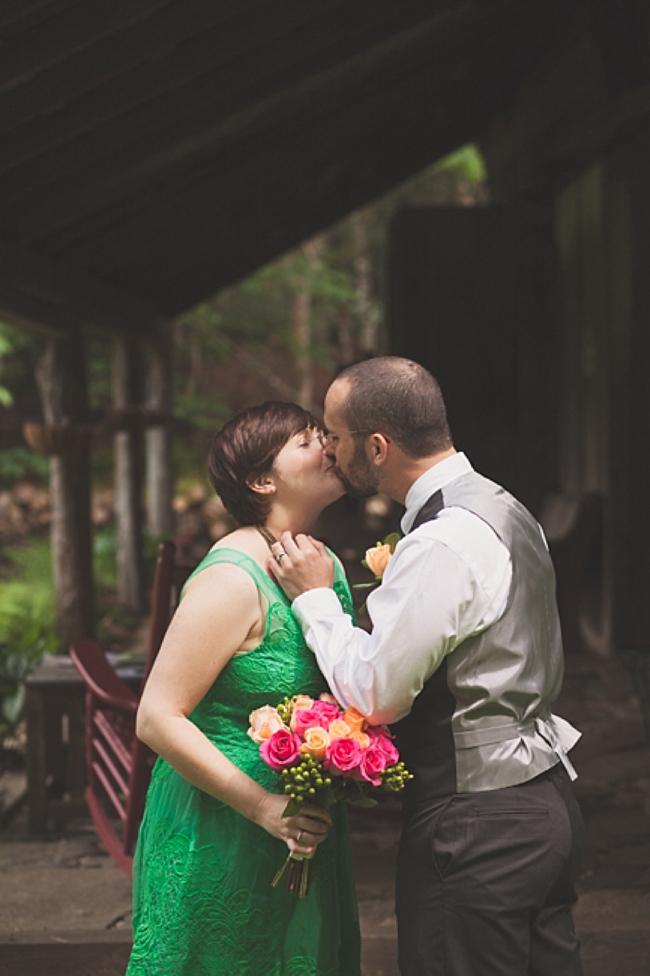valle crucis elopement first kiss