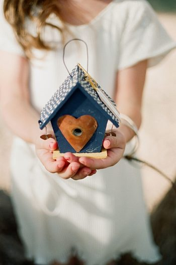 rustic birdcage favor by Gaby J Photography