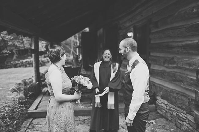 valle crucis elopement ceremony laugh