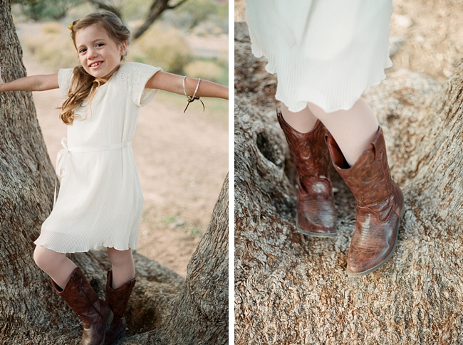 flower girl with cowboy boots by Gaby J Photography