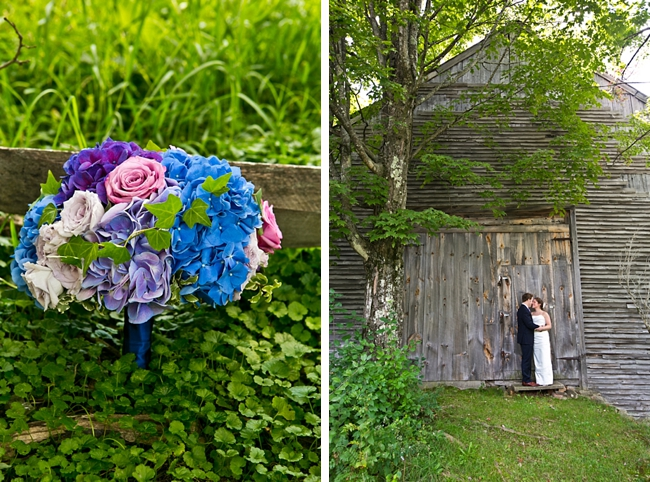 hydrangea bouquet | New Hampshire Mountain Wedding
