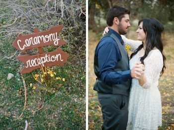 wooden ceremony sign by Gaby J Photography