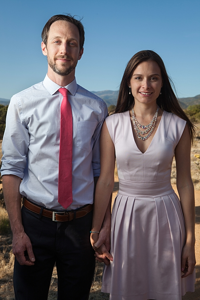 Santa Fe engagement via Mountainside Bride