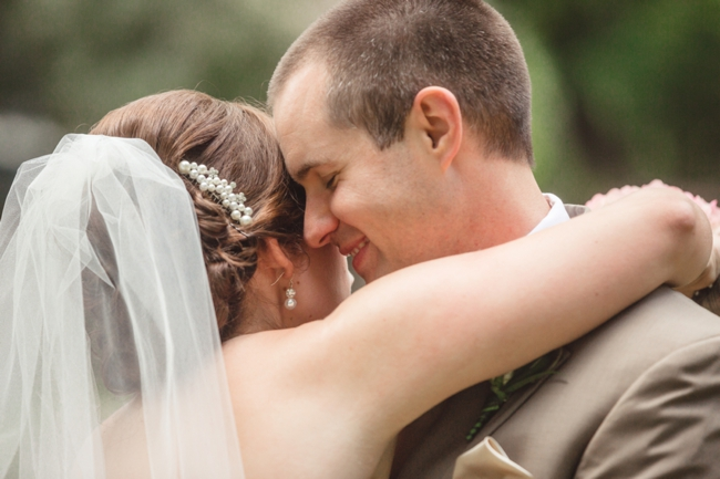 Tennessee bride and groom embrace