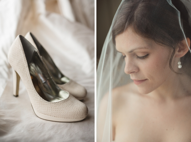 Tennessee Bride and ivory wedding shoes