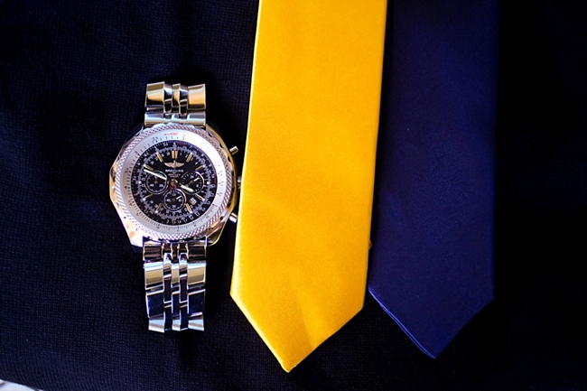 colbalt and yellow ties with rolecobalt and yellow ties with Rolex watchx watch