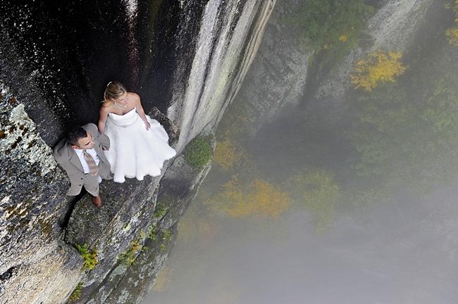 New Hampshire Rock Climbing Bridal session
