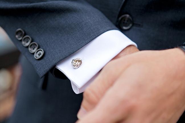 knot cuff link | Park City Wedding via http://MountainsideBride.com