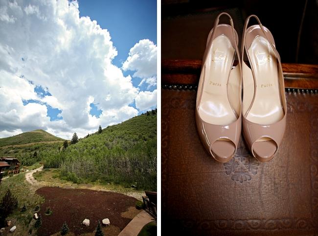 beige wedding shoes | Park City Wedding via http://MountainsideBride.com
