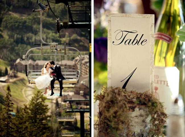 ski lift | Park City Wedding via http://MountainsideBride.com