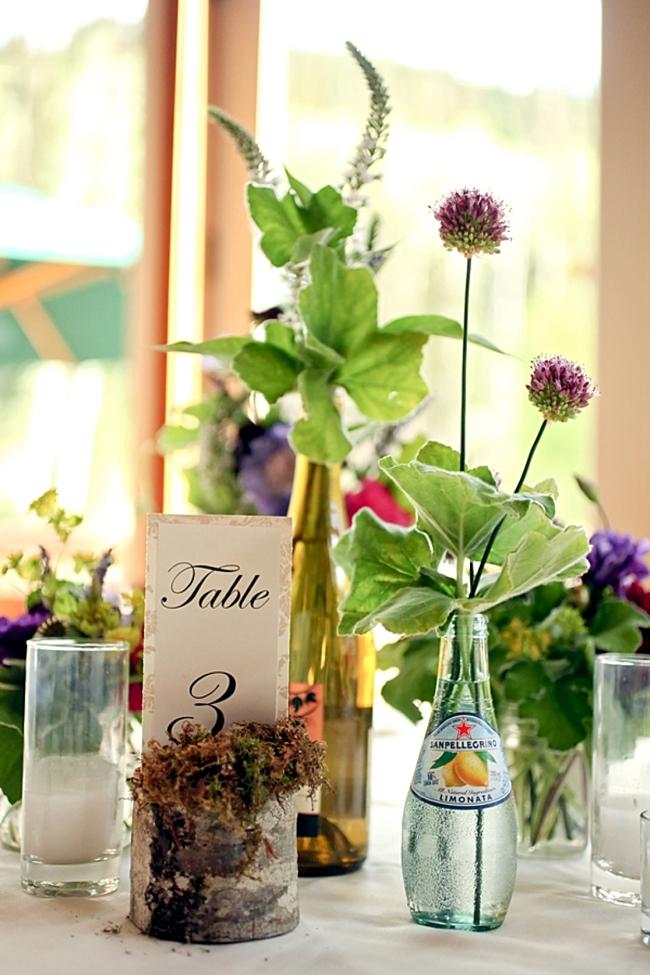 table numbers | Park City Wedding via http://MountainsideBride.com