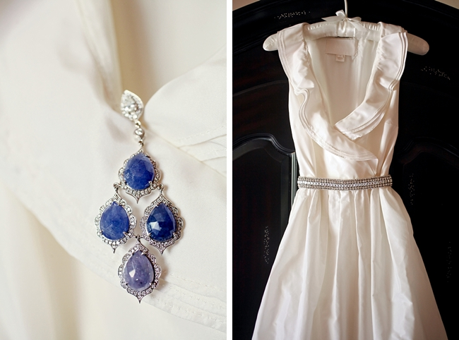 lovely wedding dress and jewelry | Park City Wedding via http://MountainsideBride.com