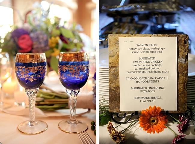 menu | Park City Wedding via MountainsideBride.com