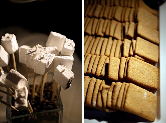 homemade marshmallow smores  | Park City Wedding via MountainsideBride.com
