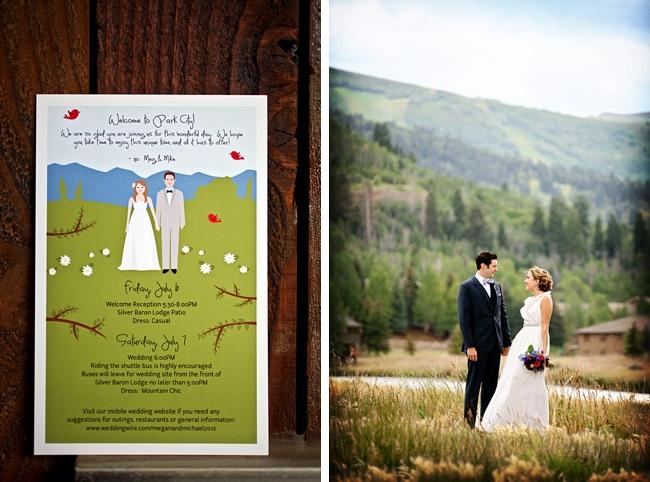 adorable wedding invitation | Park City Wedding via http://MountainsideBride.com