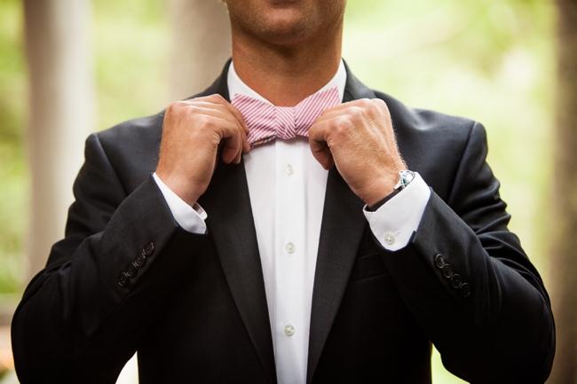7-pink-striped-bowtie-Highlands-NC-Wedding-Shutter-Love-Photography